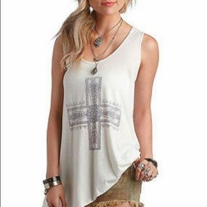 Free people we the free graphic tank top XS
